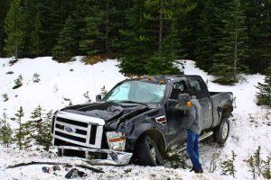 Accidente en la Icefield Highway