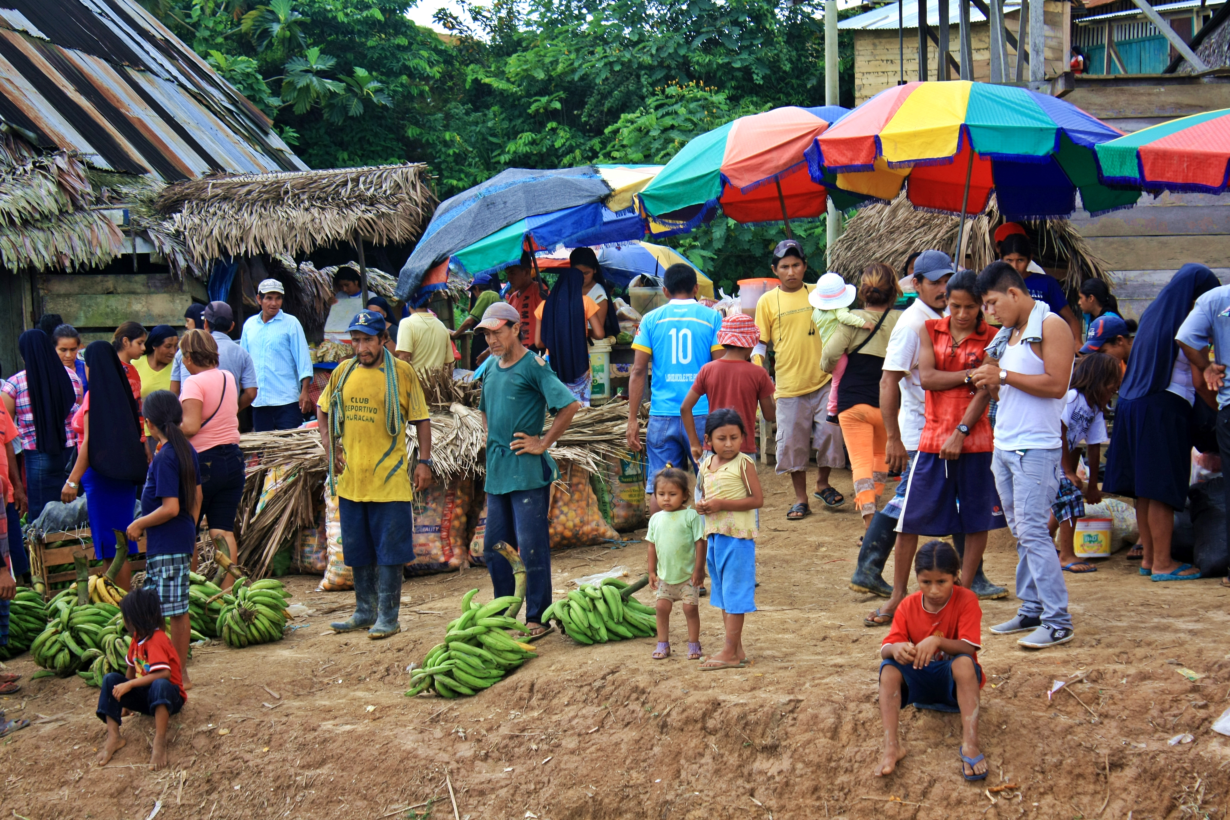 Poblado junto al Amazonas
